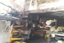 وقوع آتش سوزی در کارگاه کمک فنرسازی در تبریز+تصاویر