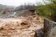 احتمال طغیان خرم رود تخریب دومین پل موقت خرم آباد