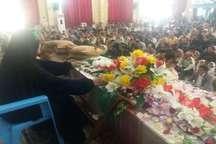 پیکر مطهر 2شهید گمنام دفاع مقدس در یاسوج تشییع شد