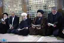 ادای احترام حسن روحانی به امام خمینی و رییس فقید مجمع تشخیص مصلحت نظام-2