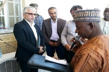 مسئولان نیجریه از طرح بیابان زدایی آران و بیدگل دیدن کردند