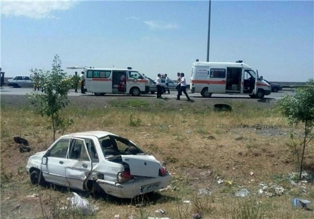 واژگونی خودرو در جاده سبزوار پنج مصدوم داشت