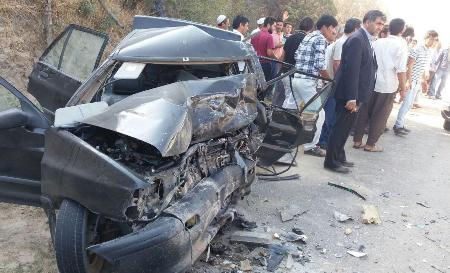 برخورد سه خودروی سواری در کلاله یک کشته و 9 مجروح برجا گذاشت