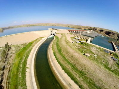 کلنگزنی پروژه سیستم آبیاری نوین ۱۲۰۰ هکتار از دشت لیشتر گچساران