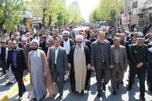 پیکر جانباز شهید دوران دفاع مقدس در میاندوآب تشییع شد