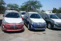 12 خودرو خارجی قاچاق در حاجی آباد کشف شد