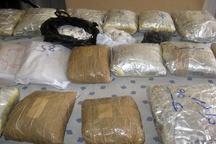 خودرو تریلی ولوو با ۱۱۴ کیلو مواد مخدر در یزد متوقف شد