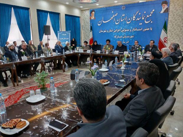 مدیران اصفهان اولویتهای استان را برایبودجه ۹۹ اعلام کنند