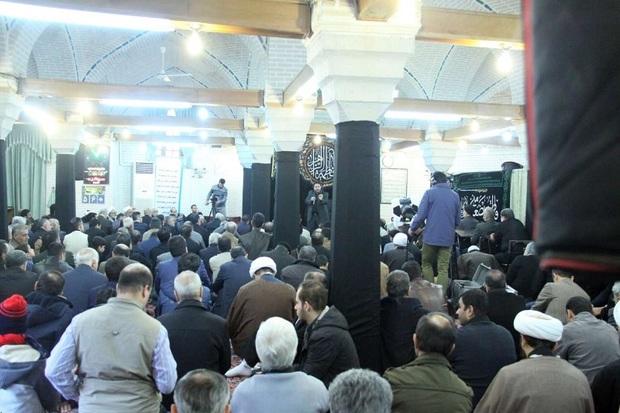 عزاداری ایام فاطمیه در مسجد شیخ الاسلام قزوین برگزار شد