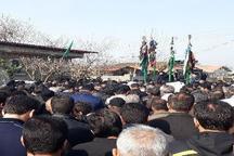 مراسم بزرگداشت شهید مدافع حرم 'محمد معافی' در نکا برگزار شد