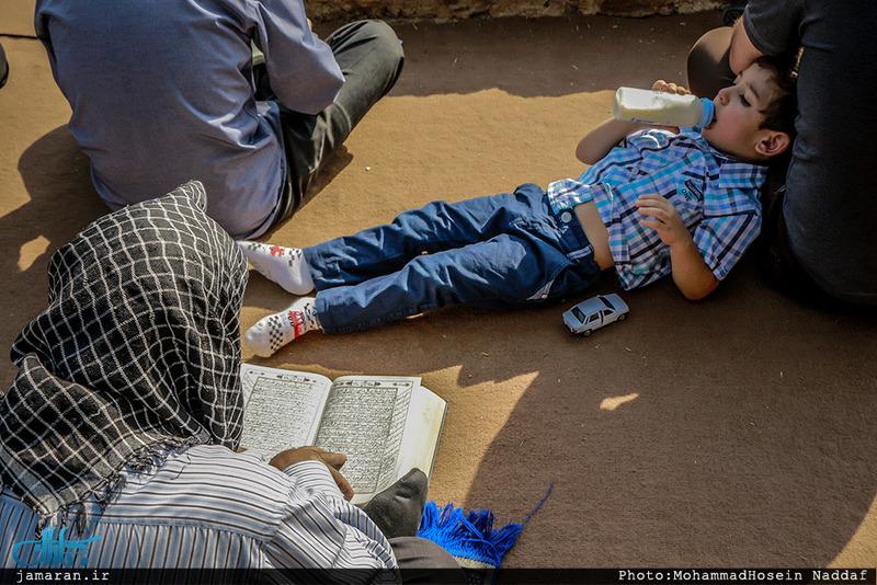 مراسم دعای عرفه در مقبره الشهدا شهرک محلاتی