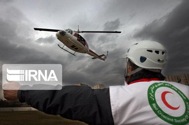  امداد هوایی جمعیت هلال احمر لرستان جان یک نفر را نجات داد