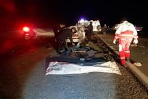 واژگونی خودرو در نایین یک کشته و 6 مصدوم داشت