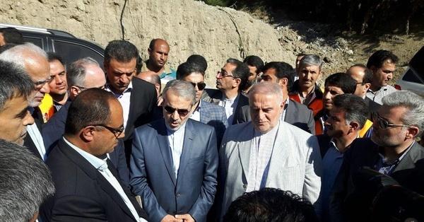 بازدید معاون رئیسجمهور از پروژه آزادراه همت در البرز و کمربندشمالی کرج