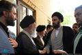 حضور حجت الاسلام و المسلمین سید علی خمینی در مراسم ترحیم همسر آیت الله علم الهدی