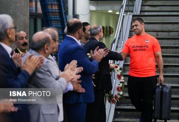 تصاویری از بازگشت تیم ملی کشتی آزاد از المپیک ریو