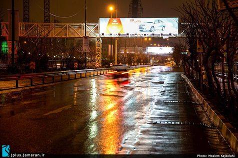 گزارش تصویری/ یک شب بارانی در تهران