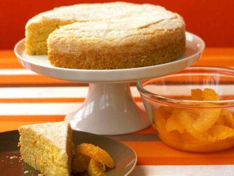 کیک پرتقال با آرد ذرت