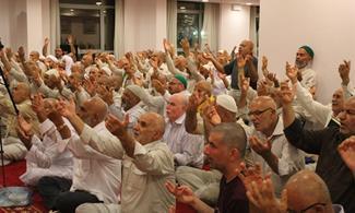 حضور مسئولان حج در مراسم سوگواری حادثه دیدگان فاجعه منا در مکه+ تصاویر
