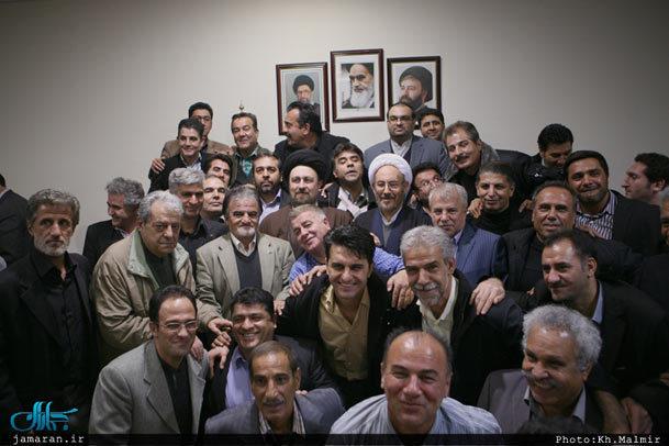 دیدار جمعی از پیشکسوتان باشگاه پرسپولیس با سید حسن خمینی