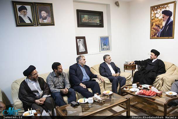 دیدار فرماندهی و مسئولان سپاه حفاظت با سید حسن خمینی