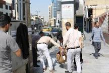 طرح ساماندهی دستفروشان خیابان شهید بهشتی کرج اجرایی شد