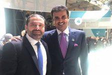 عکس جنجالی سعد حریری با امیر قطر