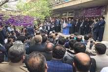 ستاد مرکزی انتخابات حسن روحانی در کردستان اغاز بکار کرد