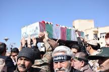 پیکر مطهر 2 شهید گمنام در شهرستان محلات تشییع شد