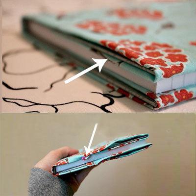 برای کتاب هایتان جلد پارچه ای بسازید