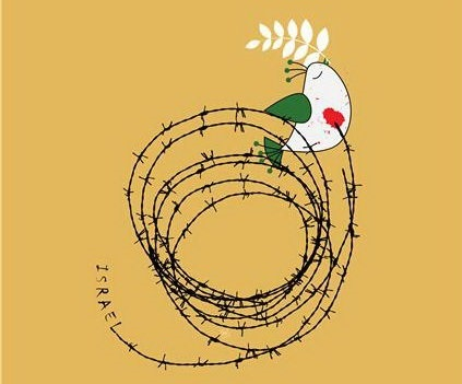 پوسترهای یک هنرمند و مظلومیت فلسطینیها