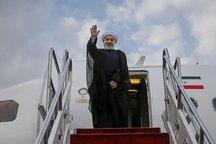 رئیس جمهور روحانی مشهد را به مقصد تهران ترک کرد