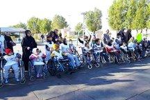 برگزاری همایش ویلچررانی و پیاده روی معلولان در بوشهر