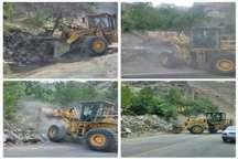 بناهای غیر مجاز جاده کرج- چالوس تخریب شد
