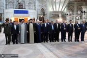 رئیس جمهور و اعضای هیات دولت با آرمان های حضرت امام(س) تجدید میثاق کردند