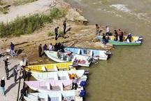 اسکله های غیر مجاز ساحل رودخانه کارون خرمشهر تخریب شدند