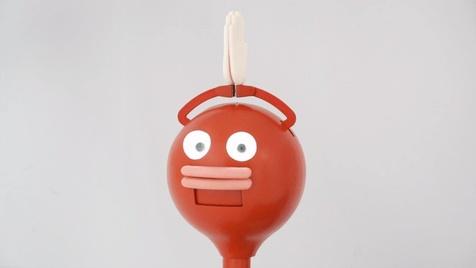 این ربات گوجه ای شکل شما را تا دم مرگ تشویق می کند! + تصاویر
