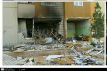 نشت گاز منجر به انفجار ساختمان مسکونی شد