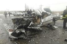 تصادف زنجیره ای در یاسوج 2کشته و 2 مصدوم بر جا گذاشت