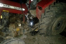تصادف تراکتور در کهگیلویه یک کشته و 4 مصدوم بر جا گذاشت