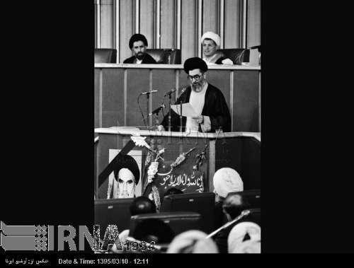 14 خرداد 1368- قرائت وصیت نامه و انتخاب رهبری پس از رحلت حضرت امام خمینی(س)