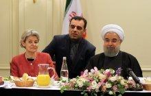 صبحانه کاری روحانی با مدیرکل یونسکو+ تصاویر