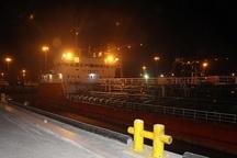 اولین کشتی روغن آفابگردان در بندر امیرآباد پهلو گرفت