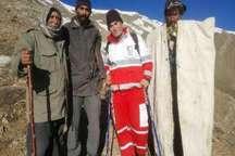 نجات 4 نفر در منطقه کوهستانی لانیزروستای شهرستانک