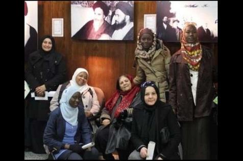 بازدید بانوان مسلمان فرانسوی زبان از حسینیه جماران