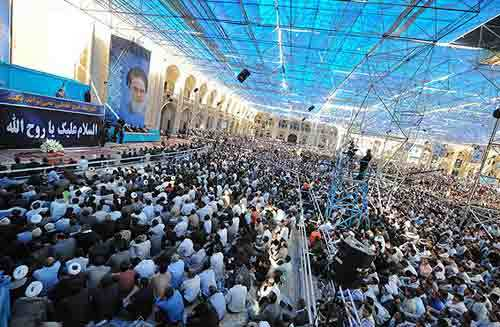 حاشیه های مراسم 14 خرداد