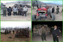5 قاچاقچی چوب جنگلی در منطقه هلن دستگیر شدند