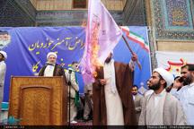 تجمع اعتراض آمیز حوزویان علیه اقدامات خصمانه آمریکا
