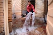 شکستگی لوله علت انباشت آب در منازل شهرک بهشتی شیراز