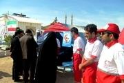19 هزار مسافر نوروزی توسط هلال احمر گچساران راهنمایی شدند
